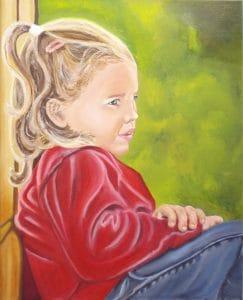 portret geschilderd door Hinke