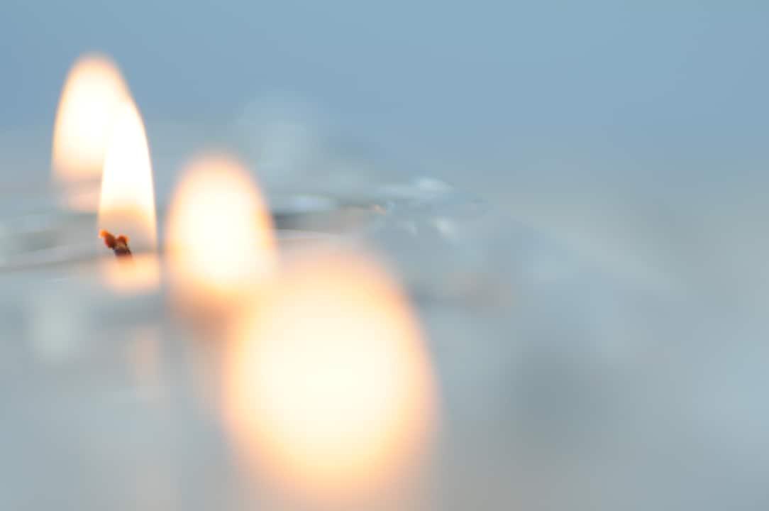 Memorial Candles - Stock Image
