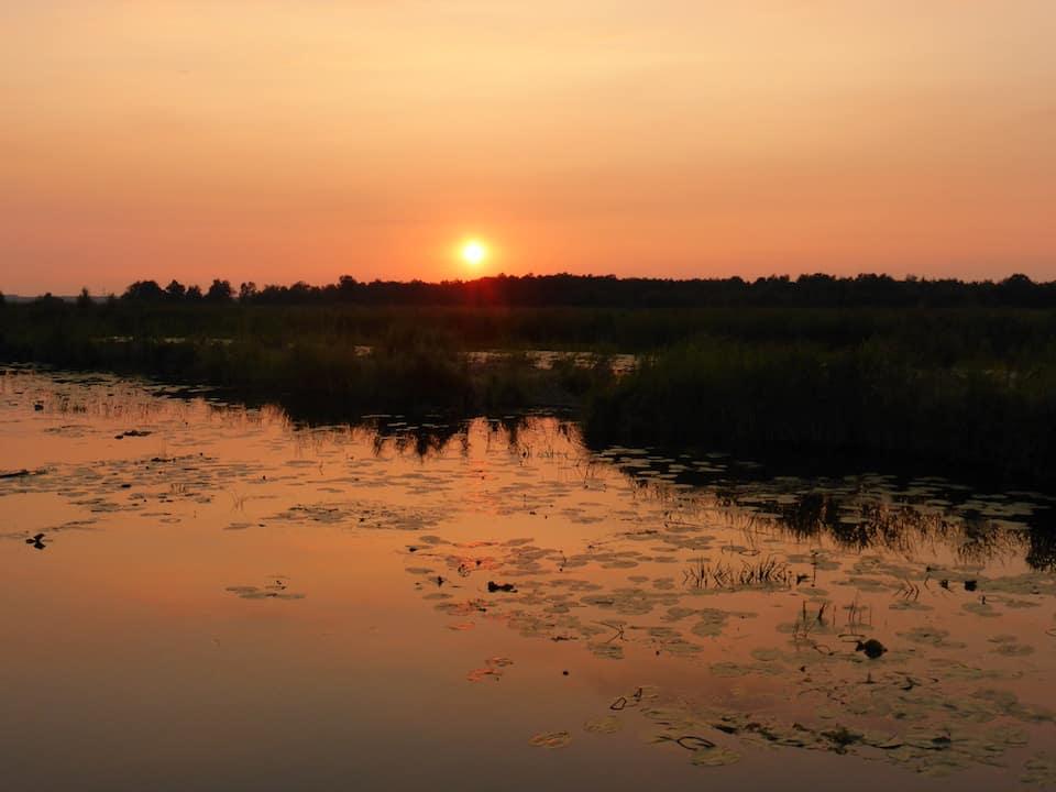 zonsondergang tiemen