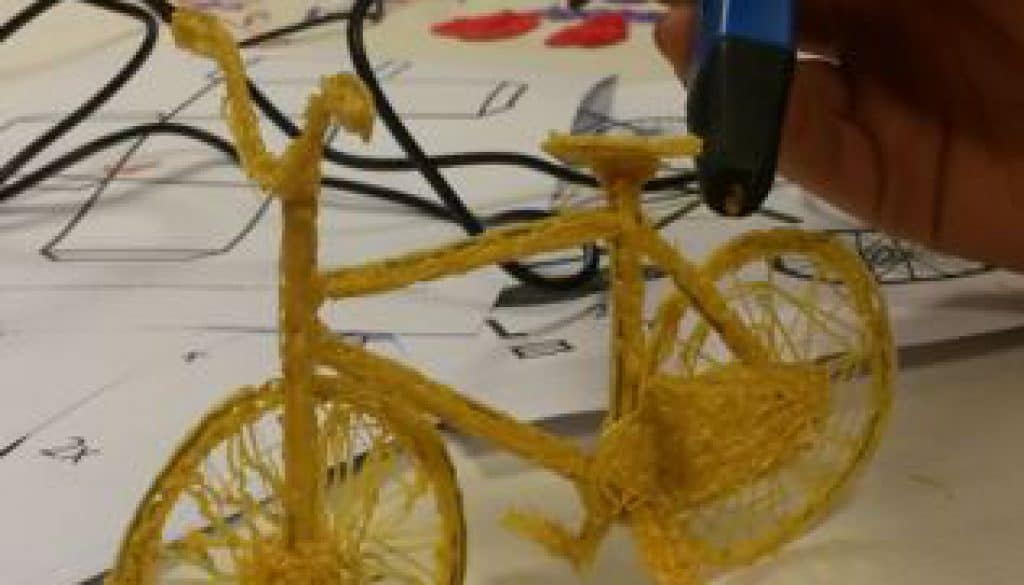 3D pen - fiets tekenen