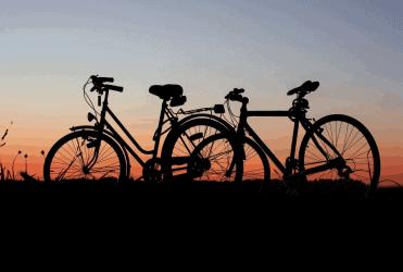 zonsondergang fiets