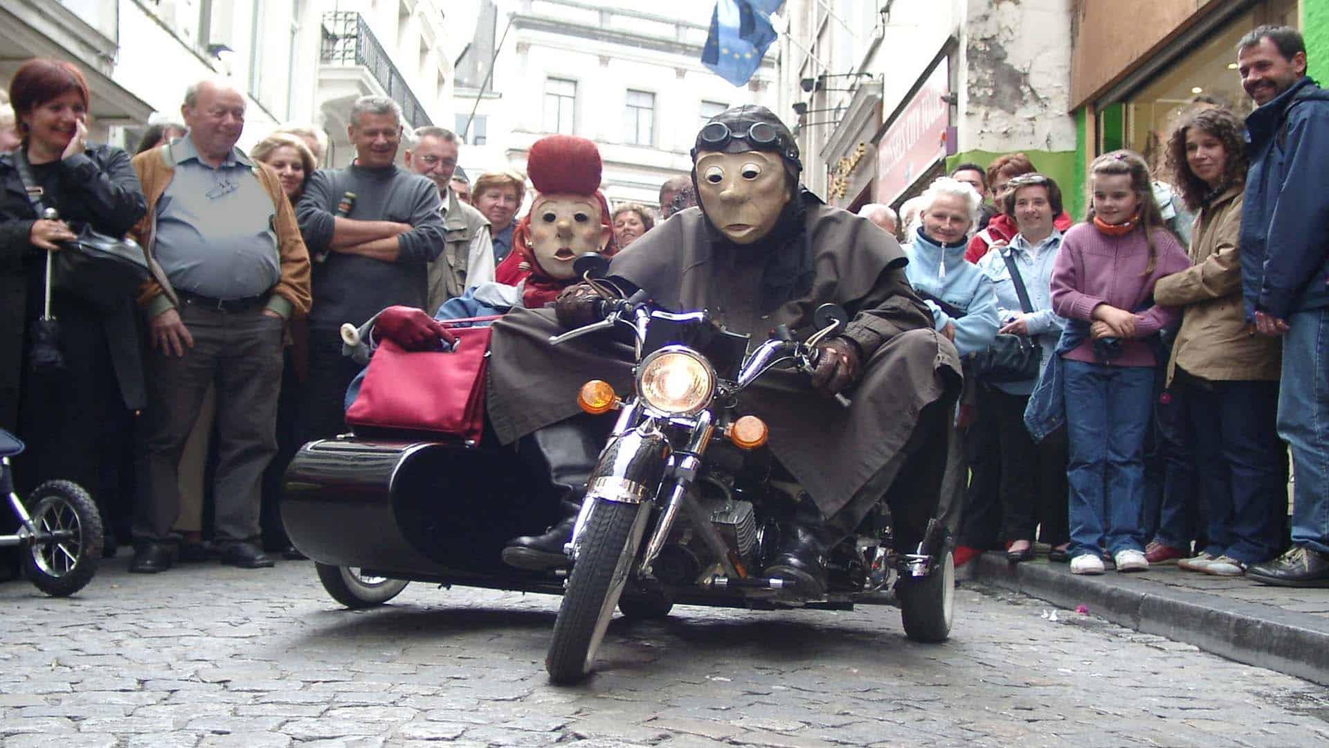 Harley Jr. maskers persfoto